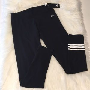 NWT Adidas black 3 stripe leggings Size Medium